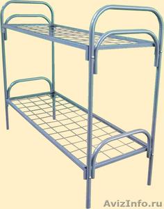 Кровати металлические для казарм, кровати трёхъярусные для рабочих, кровати опт - Изображение #4, Объявление #1478876