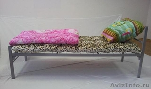 Кровати металлические для казарм, кровати трёхъярусные для рабочих, кровати опт - Изображение #10, Объявление #1478876